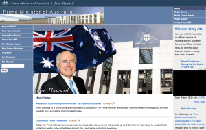 A screenshot of the former PM's website. The similarity is not a coincidence.