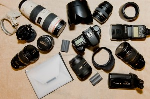 The Canon EOS-40D and all that went with it