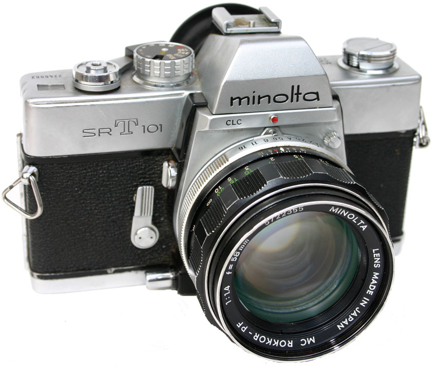 The Minolta SRT 101. This is a camera that I have not commonly been seen