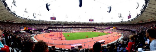 Olympic Stadium in London, captured and uploaded by my iPhone (click for larger image)