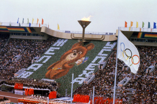 "Mischa the bear, one of the few ""non-wtf"" olympic mascots shed a tear at the 1980 Moscow games, and did so again at the conclusion of the Sochi games"