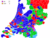 Dutch election results by municipality
