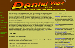 The first website under the danielyeow.com domain