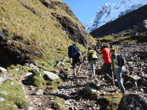 Trekking through Peruvian highlands