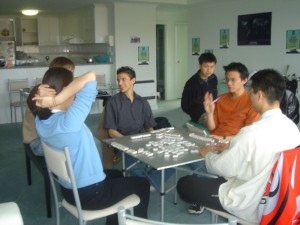 The apartment in Melbourne was large enough to easily accommodate a game of Mahjong with room to spare